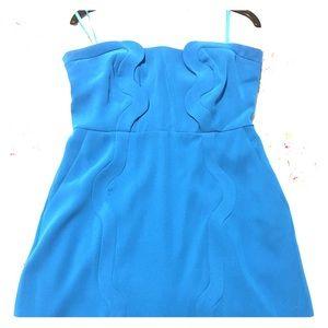 Blue DVF strapless dress size 10